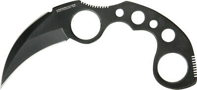"United Undercover Karambit Knife Black Stainless Fixed 6 1/2"" Tactical 1466B"