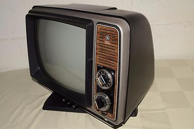 "Vtg GENERAL ELECTRIC ge MCM Black&White TV Television TURN Click DIAL 12"" CRT"