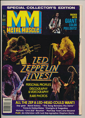 Metal Muscle Magazine _RARE vtg 1988 Led Zeppelin Edition w/all POSTER Pullouts!