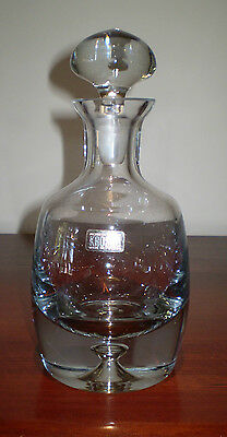 Unused  Heavy Crystal Krosno Made In Poland Ships Decanter