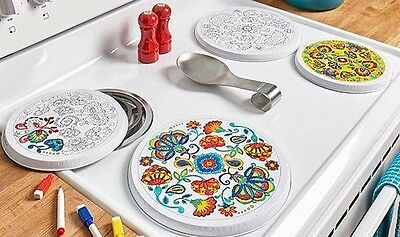 Range Burner Covers Color My Kitchen Dry Erase Marker Included Decor Stove Craft