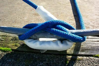"""2 Removable Marine Boat Chafe Guards - 3/8"""" to 1"""" Mooring Lines - Flat Fee Ship"""