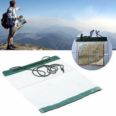 Waterproof Outdoor Camping Hiking Portable Clear Map Covers Storage Case Dry OZ