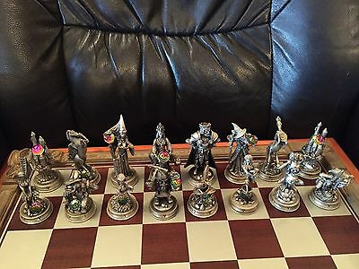 Fantasy of the Crystal Pewter chess set Danbury Mint