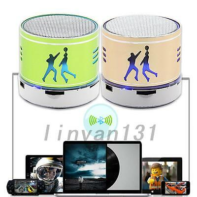 HOT Mini Wireless LED Bluetooth Speaker USB TF Card For Cell phone Laptop