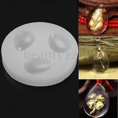 Teardrop Waterdrop Pendant Mould Jewelry Mold Resin Silicone Necklace Making DIY