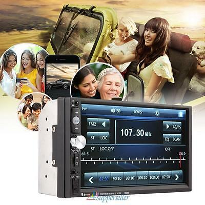 2Din Car MP3 MP5 Player Stereo Touch Head Unit FM Radio Bluetooth USB TF AUX-IN