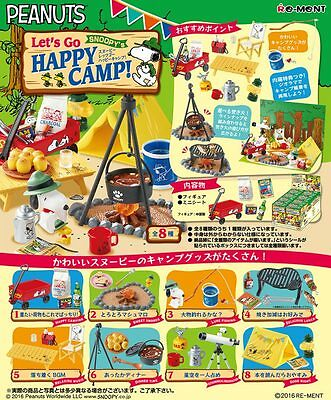 New Japan Re-ment Miniature Snoopy's Let's Go Happy Camp rement Full set of 8