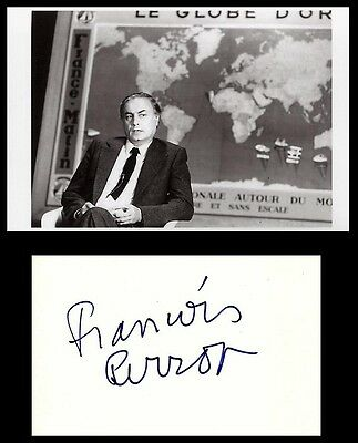 Autographe Francois Perrot Dedicace Signed Signiert