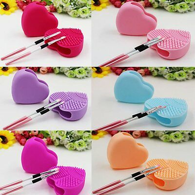 Silicone Cosmetic Makeup Brush Cleaner Washing Scrubber Cleaning Pad Tool