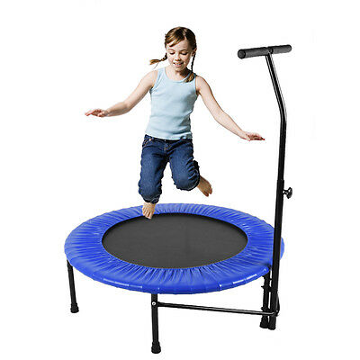 "40"" Fitness Trampoline Multifunction inch Mini Rebounder with Handle Portable"