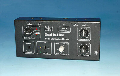 Dual In-Line mono/stereo Amplified DSP noise cancelling in-line module