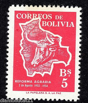 1954 Bolivia 5b 1st Anniv of Agrarian Reform SG 600 MOUNTED MINT R27304