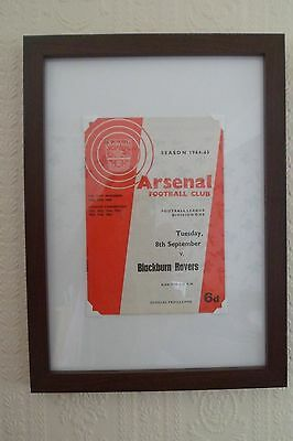 FRAMED 60s ARSENAL FOOTBALL PROGRAMME