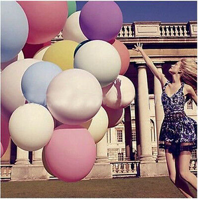 """36"""" 90cm Super Large Giant Oval Latex Big Balloons Party Decor Wedding Favours"""
