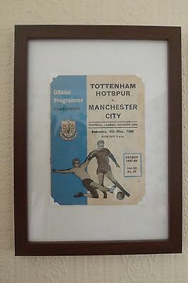 FRAMED 60s SPURS FOOTBALL PROGRAMME