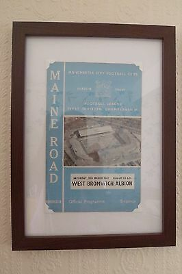 FRAMED 60s MAN. CITY FOOTBALL PROGRAMME