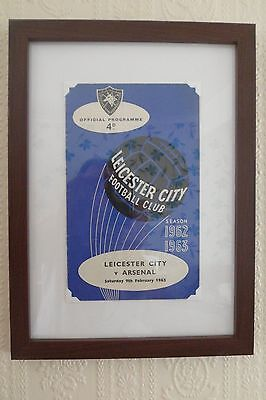 FRAMED 60s LEICESTER CITY FOOTBALL PROGRAMME