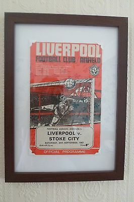 FRAMED 60s LIVERPOOL FOOTBALL PROGRAMME