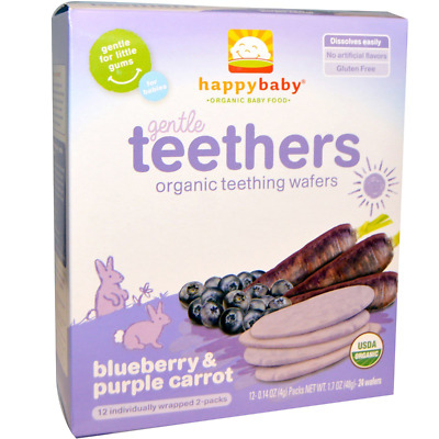 Nurture Inc. Happy Baby Gentle Teethers Organic Teething Wafers Gluten Free