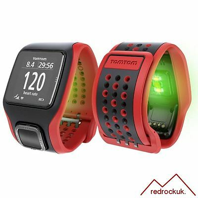 TomTom Multi Sport Cardio GPS Watch & Graphical Training Partner - Red / Black