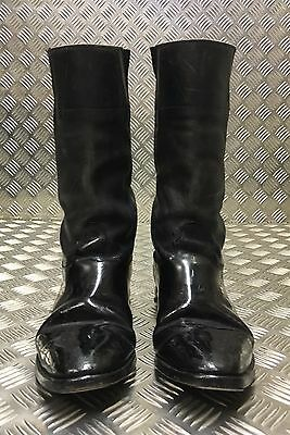 Genuine British Military Issue Leather Riding Ceremonial Boots With Spurs