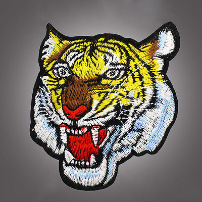 DIY Tiger Embroidered Iron On Applique Motif Patch Fashion Accessories