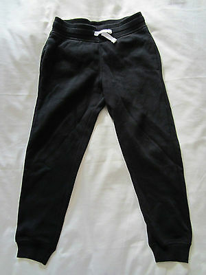 H&M Girls/Boys Black Sweatpants, Size: 6-7 years