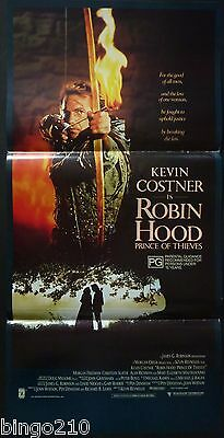 Robin Hood Prince Of Thieves Orig 1991 Daybill Poster Kevin Costner Alan Rickman