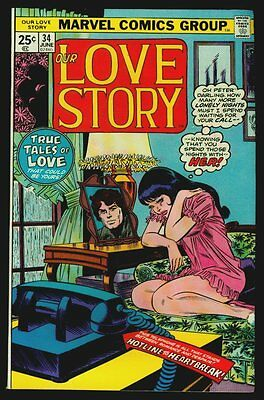 Marvel Comics Our LOVE STORY #34 VFN 8.0