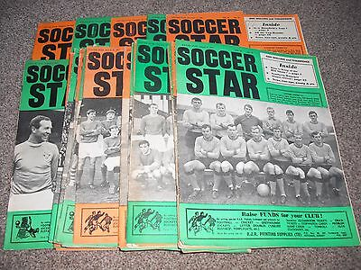 32 x SOCCER STAR MAGAZINES   1966 TO 1967