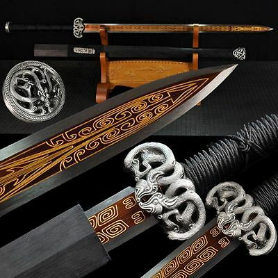 Boutique Chinese Sword Longquan Sword (劍) High Manganese Steel Sharp Handmade #5