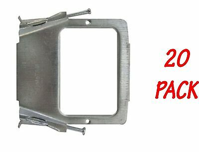 20 x Vertical Stud Bracket for Power Point and Switches - Pre-nailed mounting
