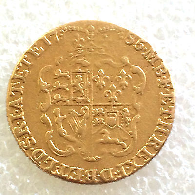 1785   full Guinea gold coin 22 ct gold lot 004