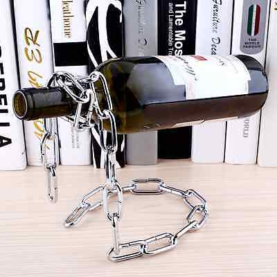 Floating Magic Chain Wine Bottle Holder Alcohol Champagne Rack Illusion Stand