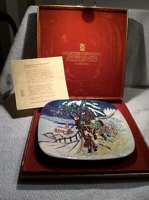 John Beswick Limited Edition Collectors Plate - Christmas In Norway + Box
