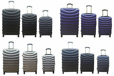 Hard Shell 4 Spinner Wheel Suitcase ABS Hand Luggage Trolley Case Cabin Carry On