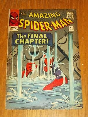 Amazing Spiderman #33 Vg (4.0) Marvel Comics February 1966