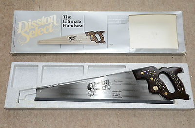 Vintage Disston Select  Ultimate Hand Saw Model D95 Mint + Box, wood carpenters