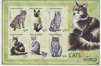 Antigua & Barbuda - Cats of the World, 2010 - Sc 3115 Sheetlet of 6 MNH