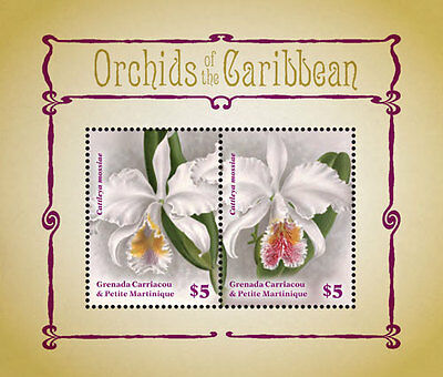 Grenada Grenadines - Orchids of the Caribbean, 2014 - S/S I MNH