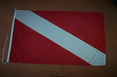 Int. Taucherflagge Flagge Fahne Diving Diver Down Flag Drapeau Plongeur LG