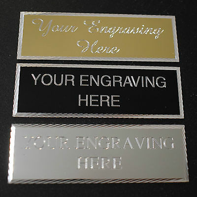 Engraved 76 X 25Mm Trophy Plaque Award Plate Picture Sports Self Adhesive
