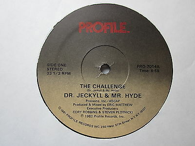 "Electro Old School Hip-Hop 80's 12""-Dr. Jeckyll/Mr. Hyde-The Challenge-USProfile"