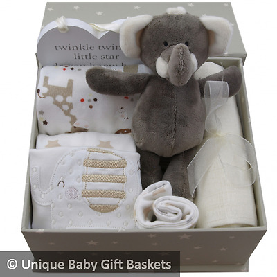 "Gorgeous packed ""Twinkle"" keepsake box unisex baby shower baby gift basket"