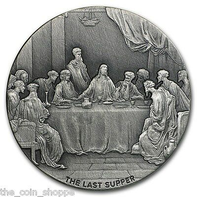 THE LAST SUPPER - 2016 2 oz Silver Coin - Biblical Series - Scottsdale Mint NIUE