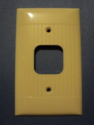 15 Vintage Mid 1950s RIBBED SIERRA 1 Gang Outlet Phone Cord Wall Plate