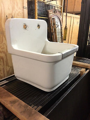 Architectural Salvage Stoneware/Ceramic Deep Sink Utility Tub Slop Sink