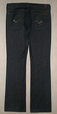 857320e52a5 Seven 7 For All Mankind Dark Wash Low Rise Boot Cut Stretch Jeans Womens  Size 32