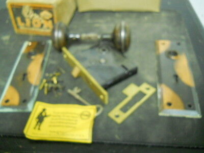 Antique Penn Mortise Door Lock with Skeleton Key, Great Condition, Complete ! !
